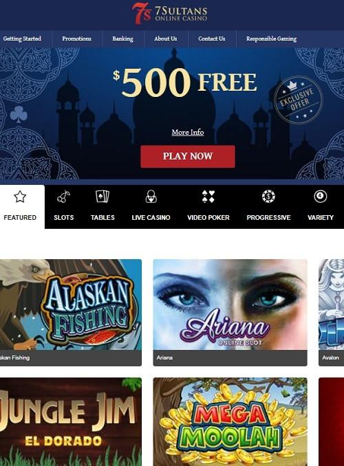 7 Sultans Casino free spins bonus