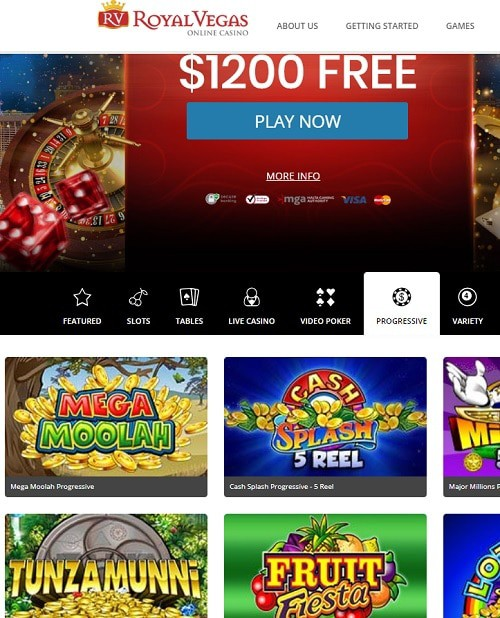 Royal Vegas Casino free spins bonus and free money
