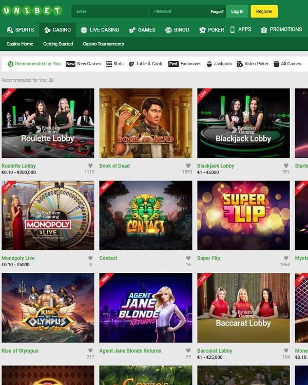 Unibet Casino, Sports, Bingo, Poker, Live Dealer - REVIEW