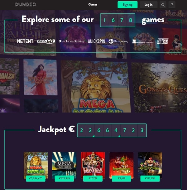 Dunder Casino Online Review