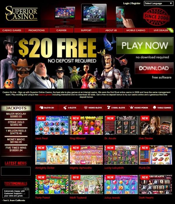 Superior Casino reviews