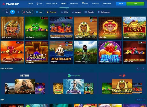 FavBet Casino - register, login and play!