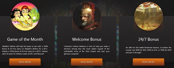 Slots Empire Casino bonuses and promotions for new players