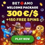 Get 150 free spins and 300 EUR bonsu to Betamo Casino!