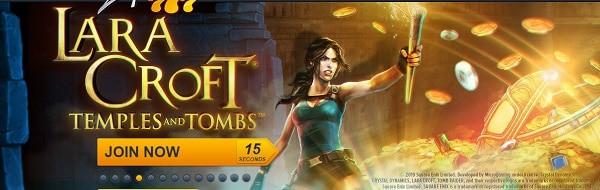 Lara Croft slot game