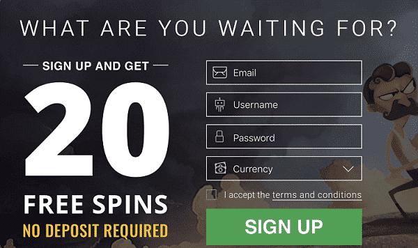 20 free spins new bonus