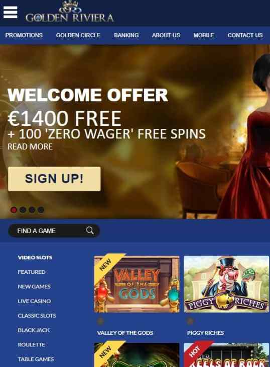 Golden Riviera Online Casino Free Spins Bonus Review
