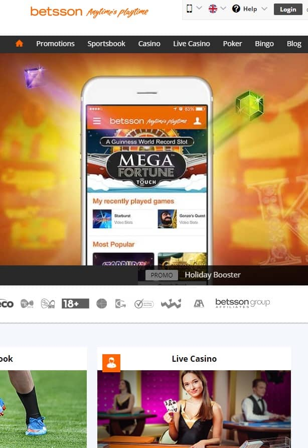 Betsson.com Casino, Poker, Sports, Bingo