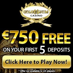 Colosseum Casino | €£$ 750 free bonus and no deposit free spins