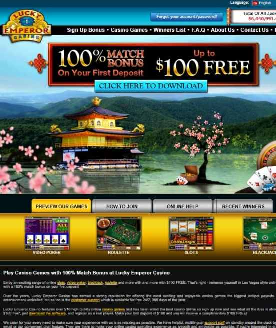Lucky Emperor Casino Review