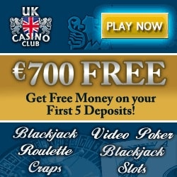 UK Casino Club | £€$ 700 welcome bonus and 200 free spins games