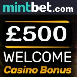 Mintbet Casino - claim £500 free bonus and win £1,000,000+ jackpots!