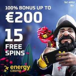 Energy Casino [energycasino.com] 65 free spins and €400 free bonus
