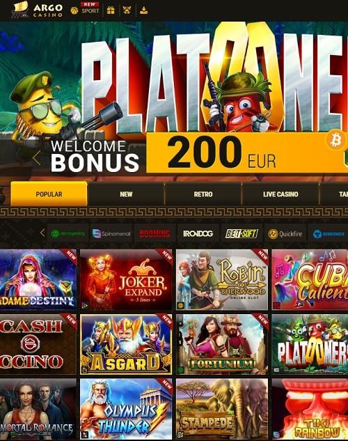 Argo Casino free spins bonus