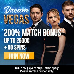 Dream Vegas Casino €7000 high roller bonus +120 free spins