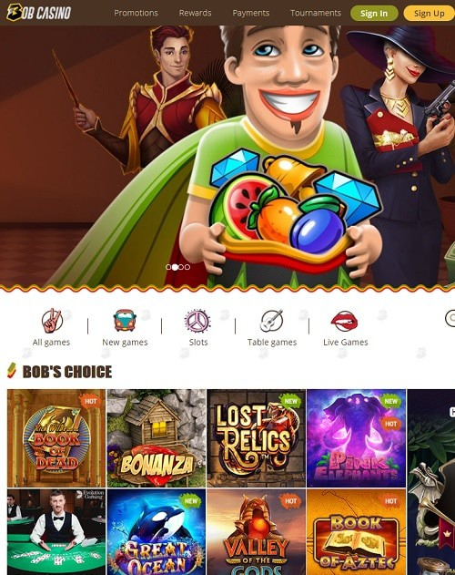 Bob Casino free play bonus
