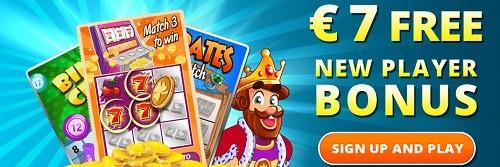 Collect your 7 EUR/USD/GBP free bonus on ScratchMania Casino