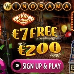 Winorama [register & login] – €7 free bonus no deposit required