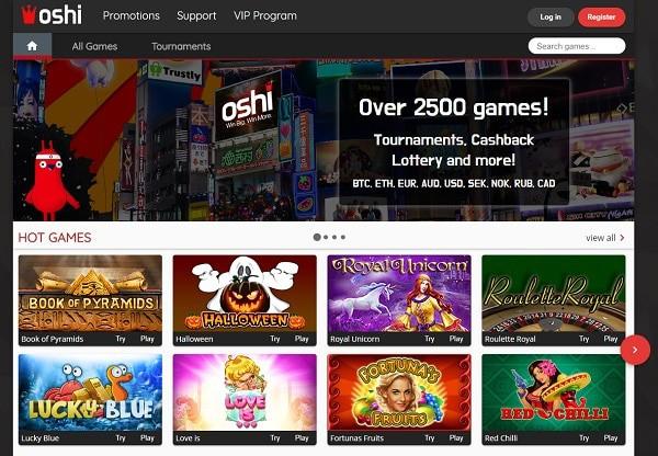 Oshi Casino free bonis