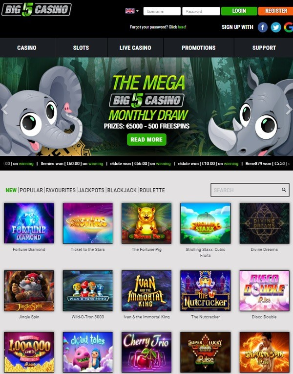Big 5 Casino online and mobile