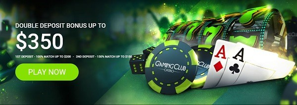 Gaming Club Casino welcome bonus: $350 and 30 free spins