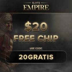 Slots Empire Casino $20 free chip bonus (RTG games & Bitcoin)