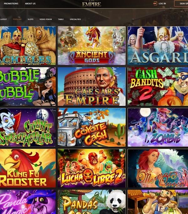 Slots Empire Casino free spins and no deposit bonuses