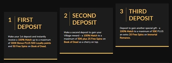 First Deposit Bonus: 100% up to 300 EUR and 50 Free Spins