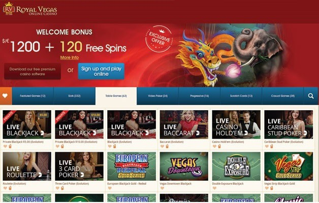 Royal Vegas Online Casino Overview
