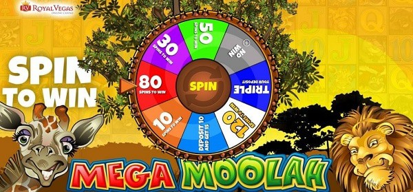 Mega Moolah exclusive promotion - Wheel of Spins