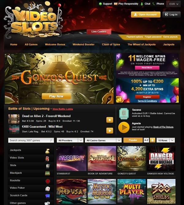 Videoslots.com Casino Register and Play!