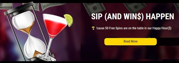 SIP AND WIN - happy hour casino promotion