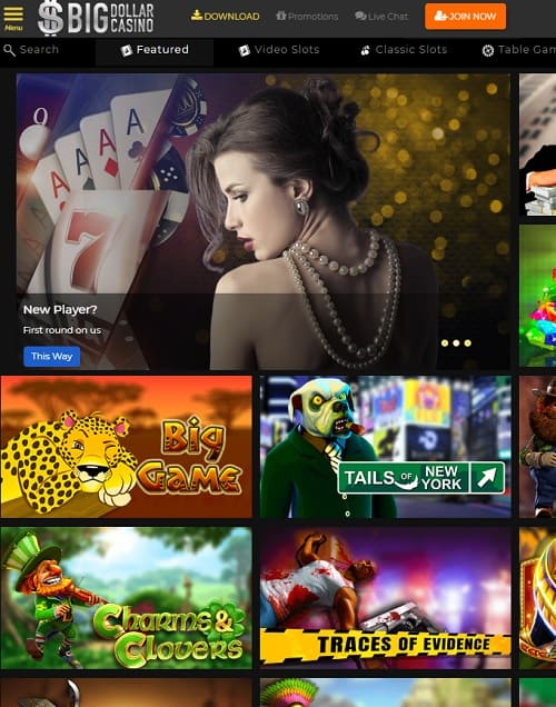 Big Dollar Casino $250 free chip no deposit bonus promo code