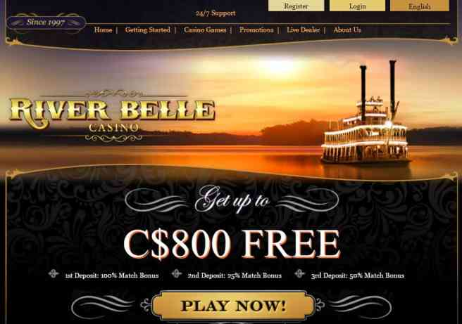 River Belle Casino Review: $800 welcome bonus and 30 free spins