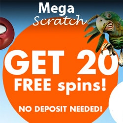 MegaScratch.com free spins and no deposit bonus