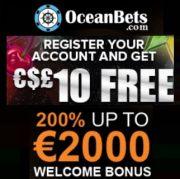 Oceanbets Casino free bonus