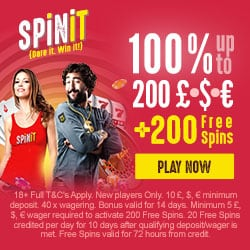 Spinit Casino Review: 200 free spins and €1000 welcome bonus