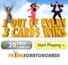 Prime Scratch Cards Casino 120 free spins and €200 free bonus