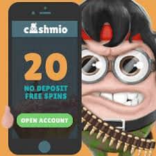 Cashmio Casino 220 free spins and 100% free bonus