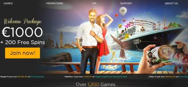 CasinoCruise 200 free spins and 1000 euro welcome bonus
