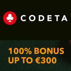 Codeta.com Live Casino - 100% up to €300 bonus and free spins
