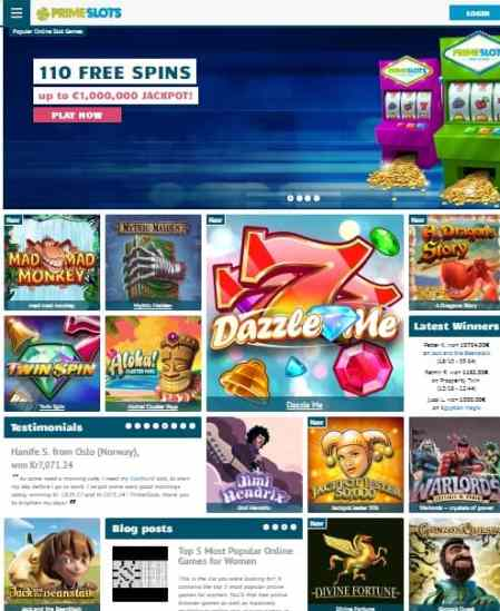 PrimeSlots.com Review