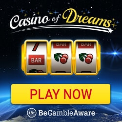 Casino Of Dreams 50 free spins on Cool Bucks + 200% up to £1000 bonus