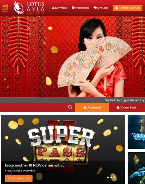 Lotus Asia Casino free spins bonus
