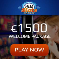 All Slots Casino Online 300% bonus up to €1500 + 100 gratis spins