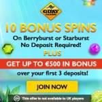 Gday Casino 60 free spins on Starburst / Berryburst - no deposit bonus