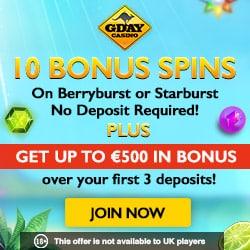 60 free spins gday casino