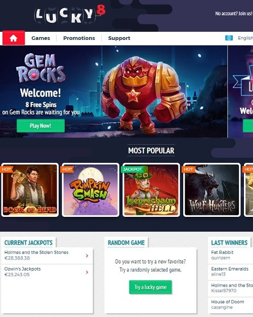 Lucky8.com Casino Review