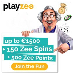 Playzee Casino welcome bonus: 150 gratis spins + $1500 free cash
