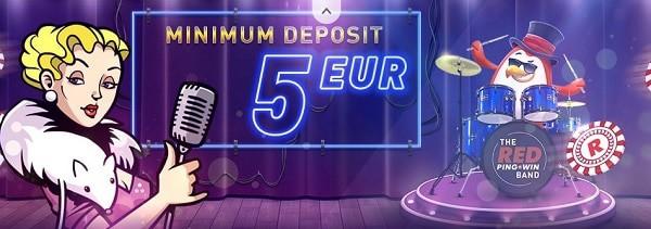 Red Pingwin Casino min. deposit